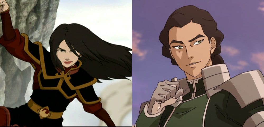 Picture of Kuvira and Picture of Azula side by side