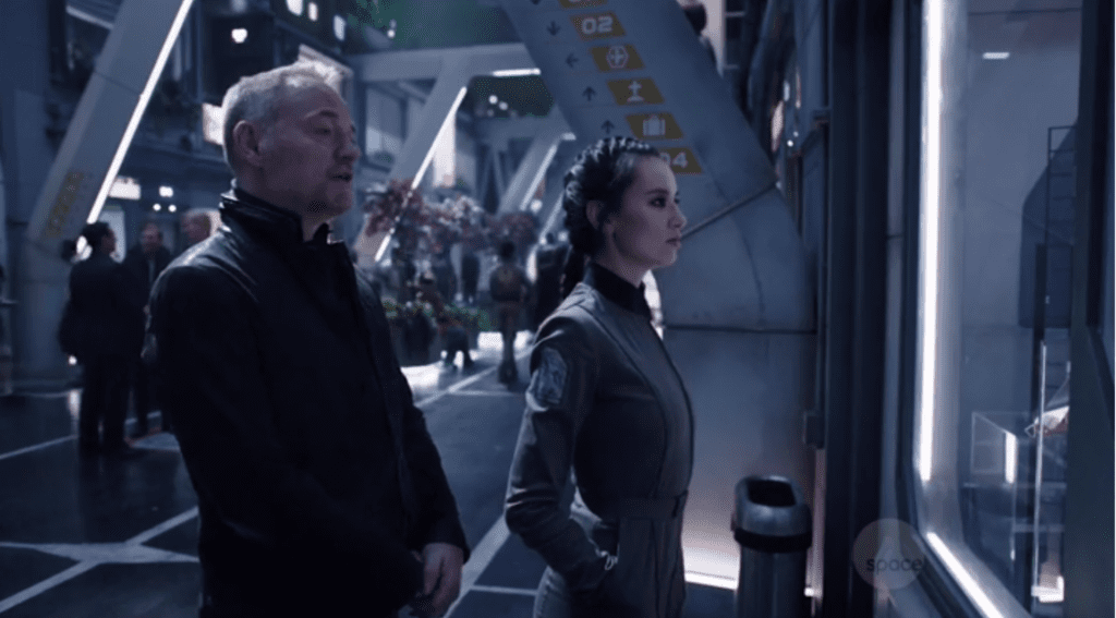 Anderson Dawes and Fred's deputy. (The Expanse)