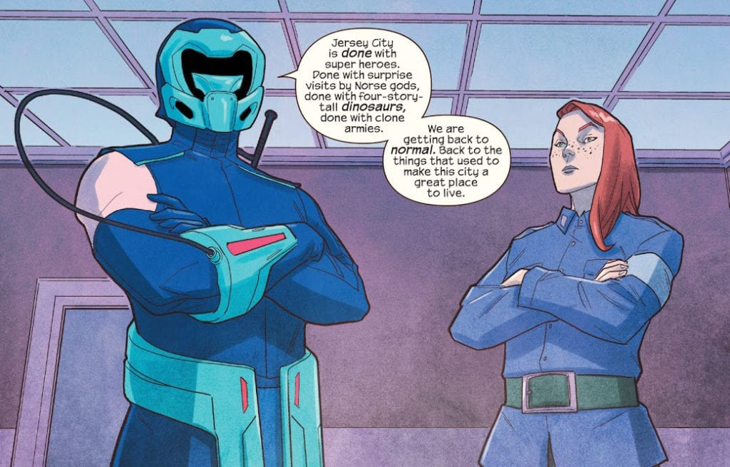 Discord and Lockdown in Ms Marvel #20
