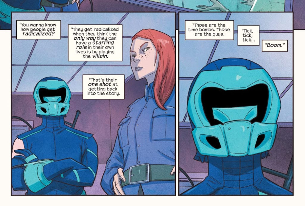 Lockdown and Discord during Aamir's interrogation in Ms. Marvel #20