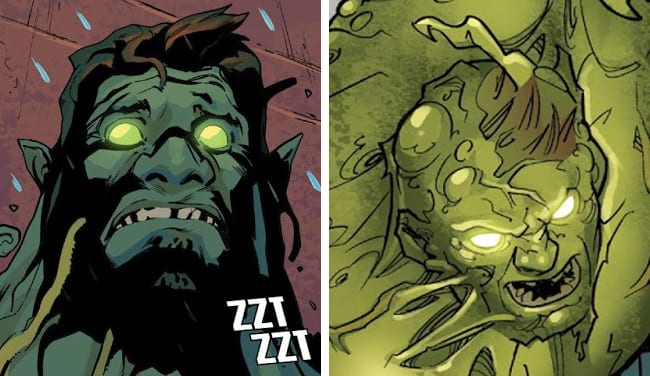 Oliver in different art styles in Hulk #9