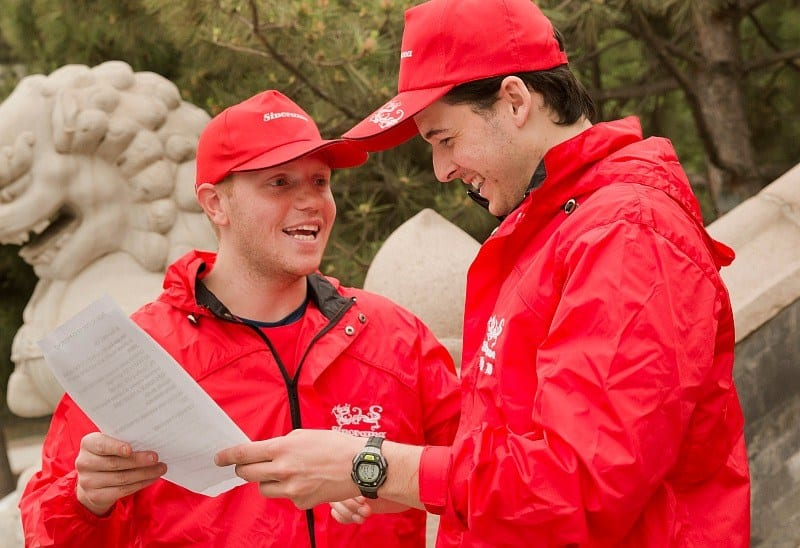 Sam and Paul in episode 5x04 of The Amazing Race Canada