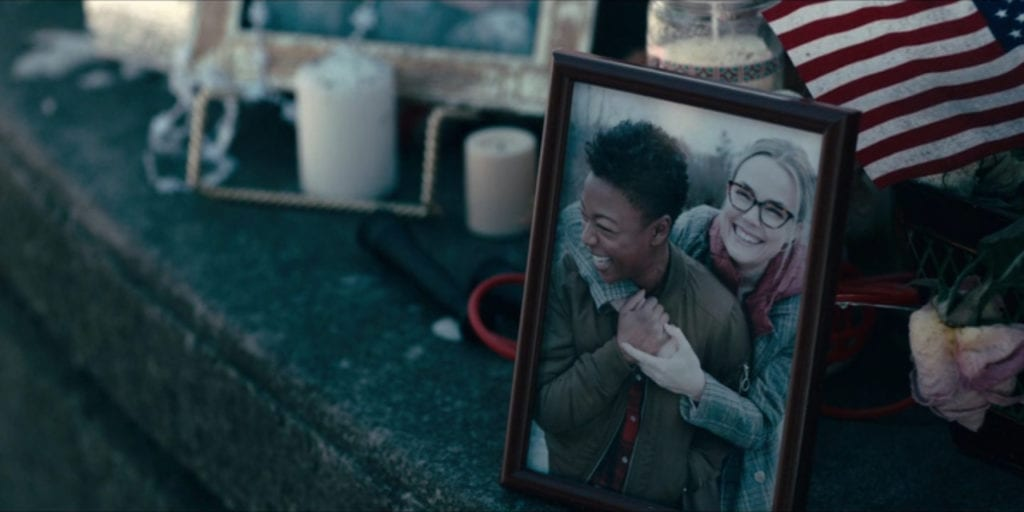 """Samira Wiley as Moira and Rebecca Rittenhouse as Odette in The Handmaid's Tale 2x07 """"After"""""""