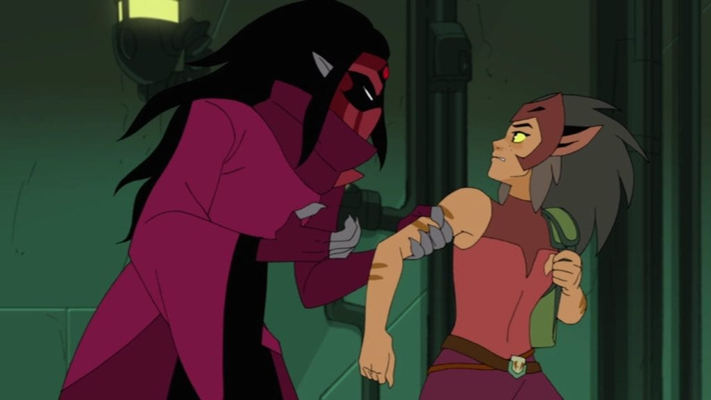"""Shadow Weaver and Catra in She-Ra and the Princesses of Power 1x10 """"The Beacon"""""""