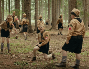 Mishap with a knife at Hitler Youth Camp in JoJo Rabbit