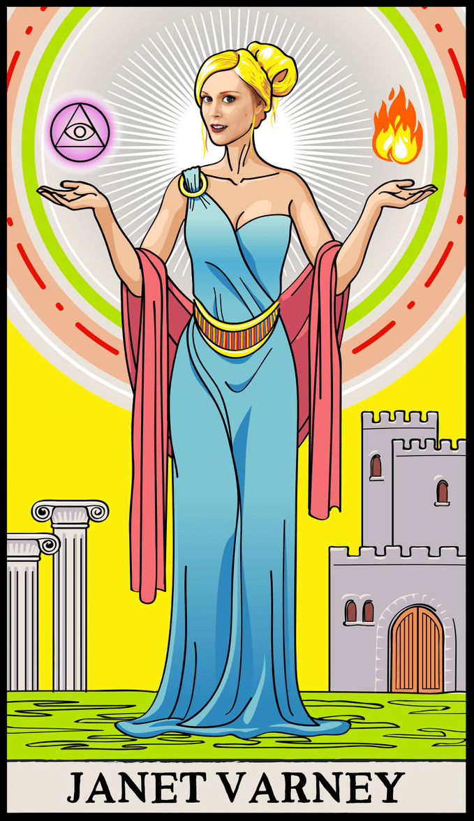 Janet's tarot card from Fortune Rookie