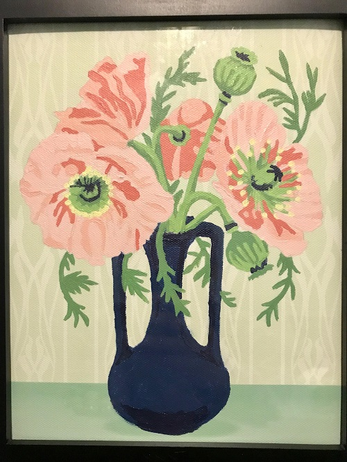 painting of poppies in a vase