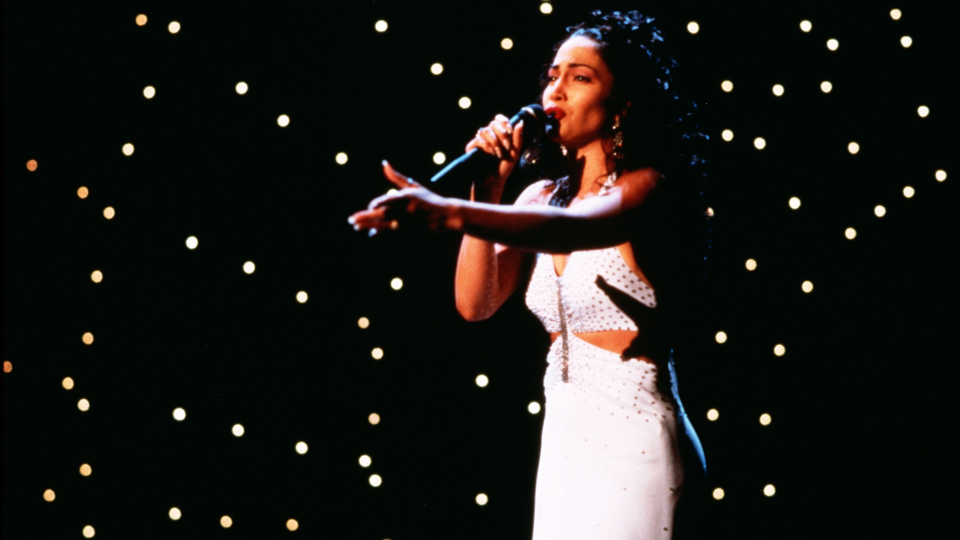 Jennifer Lopez as Selena Quintanilla in 'Selena'.