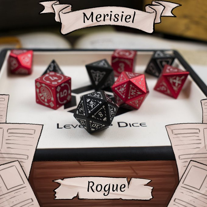 Merisiel dice set