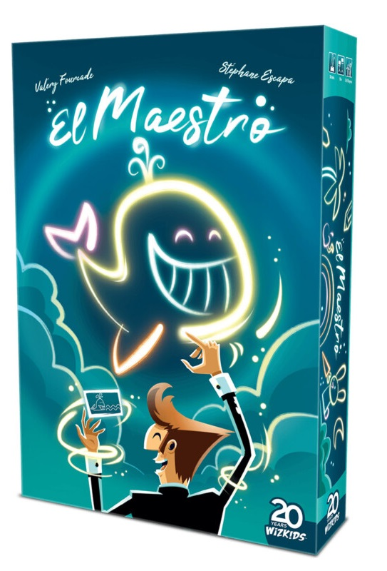 man drawing picture on blue background el maestro box