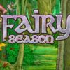 fairy season banner with four different woodland creatures