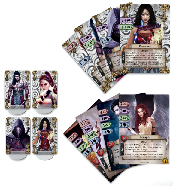 hero and class cards
