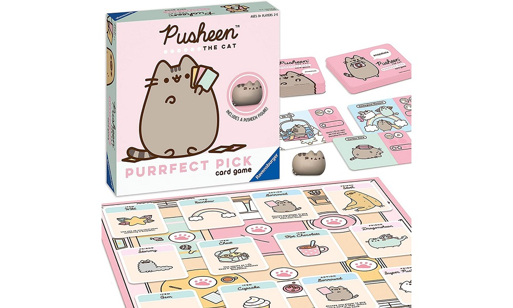 pusheen game with board and some cards