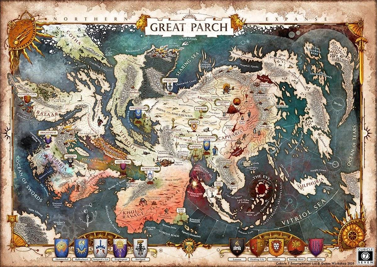 Map of the world in Age of Sigmar