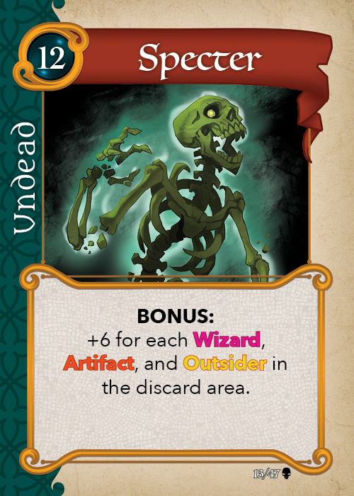Fantasy Realms The Cursed Hoard undead card