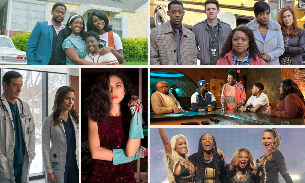 selection of stills from various new series