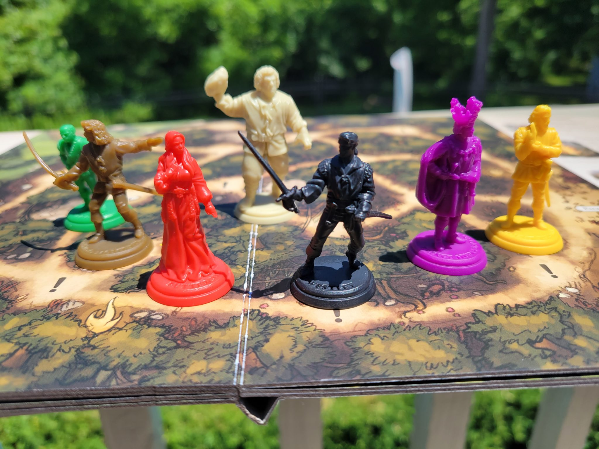 The Princess Bride Adventure Book Game minis and board