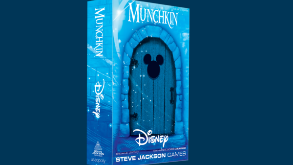 blue box with disney munchkin and mickey mouse symbol